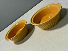 Housewares Brand Mustard Yellow Ramekins Kitchenware Ceramic Round Set of Two