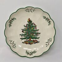 SPODE CHRISTMAS TREE ROUND FLUTED BOWL DISH  8 INCHES