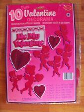 Vintage 1992 10pc Beistle Valentines Decorama Honeycomb & Diecuts NOS