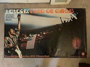 Jimi Hendrix Band of Gypsys Fillmore East Subway Poster - Huge Original