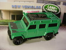 2017 Matchbox LAND ROVER DEFENDER 110 1997☆green; black hub☆Loose Matchbox