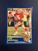 1989 Score -1 JOE MONTANA San Francisco 49ers GREAT CARD LOOK