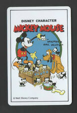 Swap Playing Cards 1 Japanese Nichiten Disney Mickey Mouse 1980's A180