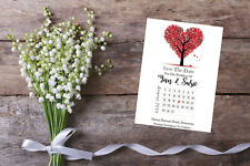 Personalised Save The Date Cards X 10 Wedding Calendar SD433