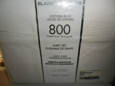 BLANC DE BLANCS 800 Thread Count Wrinkle Resistant Sheet Set Queen NEW