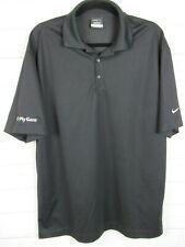 Nike Golf Mens Short Sleeve Black Dri Fit Polo Shirt Size L W1030
