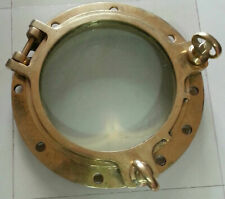 REPLACE VINTAGE NAUTICAL MARINE SHIP BRASS PORTHOLE/WINDOW TWO DOG 1 PIECES