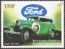 1932 FORD V8 / V-8 (Model 18) Classic Car / Automobile Stamp (1998 Comoros)