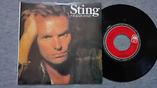 "STING – 7'' VINYL PROMO SINGLE WITH ""FRAGILE"" IN SPANISH AND PORTUGUESE."
