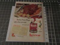 1952 Hunt's Tomato Sauce Pot Roast Carrots Potatoes Vintage Print Ad