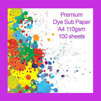 Premium A4 Dye Sublimation Heat Transfer Paper 110gsm 100 Sheets FAST DELIVERY