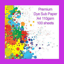 Premium A4 Dye Sublimation Heat Transfer Paper 110gsm 500 Sheets FAST DELIVERY