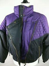 HELLY HANSEN HH EUROPA Womens PURPLE BLACK Ski Jacket Vintage Retro Size 10 LG