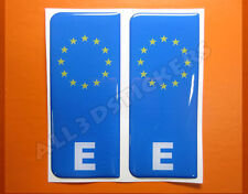 2x3D Sticker Resin Domed Euro SPAIN Number Plate Car Badge Adhesive Vinyl Decal