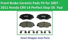 Front Brake Ceramic Pads Fit For 2007 2008 2009 2010 2011 Honda CRV L4 Perfect S