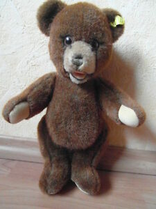 STEIFF TEDDY  BÄR ORIS NUR VON 1980-83 ca 30 cm groß 0220/30