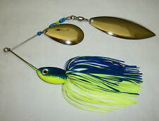 MUSKIE SPINNERBAIT 1oz COLOR: BLUE & CHARTREUSE