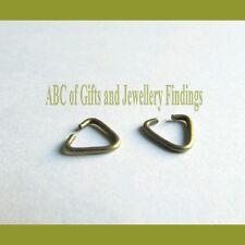 50 pièces de bronze tonique triangulaire jump ring pinch bails