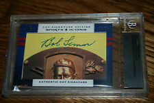 2012 Leaf Prime Cuts Sports Icons Bob Lemon & Earl Averill Auto SP HOF 1/1