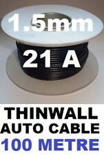 100M VEHICLE CABLE REEL 1.5MM 21A 12V AUTO WIRE 21/0.3, 1.5MM 100 METRES