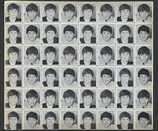 The Beatles 1964 Black & White Photo Stamp Sheet FAB VINTAGE 48 STAMPS OLD STOCK