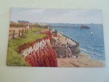 A R QUINTON Postcard 2454 Hunstanton Promenade+Bandstand Unposted §A1803