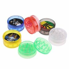 Durable Plastic Cigarette Grinder 30mm Flat One-layer Tobacco Grinder Tools BA
