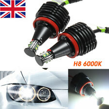 80W LED Angel Eye Halo Light H8 Bulb No Error For BMW E90 E92 E82 E60 E70 X5 E71