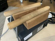 2 x Regad Fileteuse Edge Creaser Handles + Wooden Stands