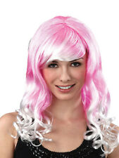 Lolita Cosplay Wig Wavy Female Fancy Dress Curly Accessory Pink & White Hen New