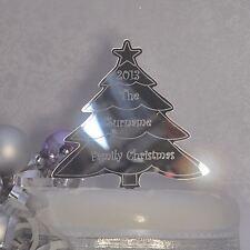 Personalizado Familia árbol De Navidad Novedad Cake Topper cualquier nombre y espejo del año