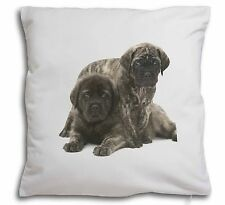 More details for bullmastiff dog puppies soft velvet feel cushion cover with inner p, ad-bmt2-cpw