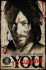 24x36 WALKING DEAD DARYL WANTS YOU POSTER Shrink Wrapped