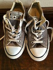 Converse All Star Youth Sneakers Lace Up Shoe Gray Size 1 Boy Girl