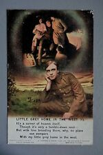 R&L Postcard: Bamforth Song Card 4871/4 Little Grey Home in the West WW1 Soldier