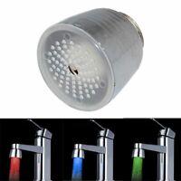 Temperature Sensor Kitchen Shower 3Color LED Faucet RGB Glow Light Water Tap