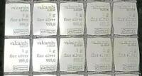 TEN(10) 999 SILVER 1 GRAM VALCAMBI SUISSE BULLION BARS!! ~>