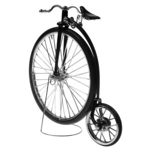 1/10 Vintage Alloy Diecast Racing Bicycle Model Crafts Home Decoration Black