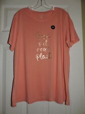 NWT Banana Republic Women T-shirt Coral Graphic Modal Cotton S/S xl XLARGE