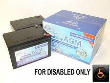 2 x LEOCH 12V 15ah (12ah) HEAVIER DUTY Batteries - PRIDE GOGO ELITE TRAVELLER *