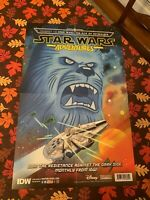 Star Wars Adventures Chewbacca Millennium Falcon NYCC Exclusive Comic Poster IDW