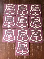 Lot Of 10 Trophy Best Bitter Beer Coasters Brewed In Lancanshire Bar Draft Pint