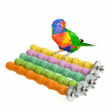 Large Bird Chew Toys Parrot Grinding Colored Emery Stand Cage Cockatiel Parakeet