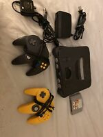 Nintendo 64 N64 Console Complete Bundle With 2 OEM Controllers, Tested Works