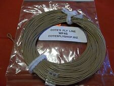 Cote's Fly Shop private label fly line WF4S weight forward 4 Sinking T3 brown
