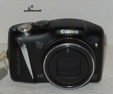 Canon PowerShot SX130 IS 12.1MP 10x Optical Zoom HD Digital Black Camera PC1562