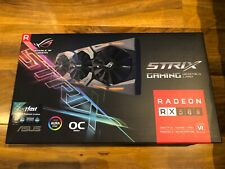 More details for asus radeon rx 580 rx580 8gb rog strix oc graphics card - boxed - mint condition