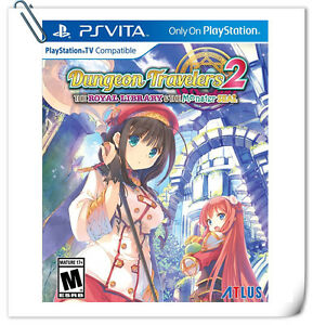 PSV Dungeon Travelers 2 The Royal Library & the Monster Seal SONY VITA RPG Atlus