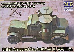 1/72 WW1 Armoured Car : Austin Mk IV [UK] : #72008 : MASTERBOX
