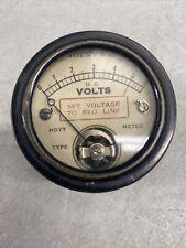 Vintage Hoyt Electrical Instrument Type 17 Meter Dc Volts 1 6v Old Tech Cool